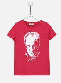 Crew neck - Red - Girls` T-Shirt