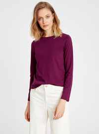 Crew neck - Purple - T-Shirt