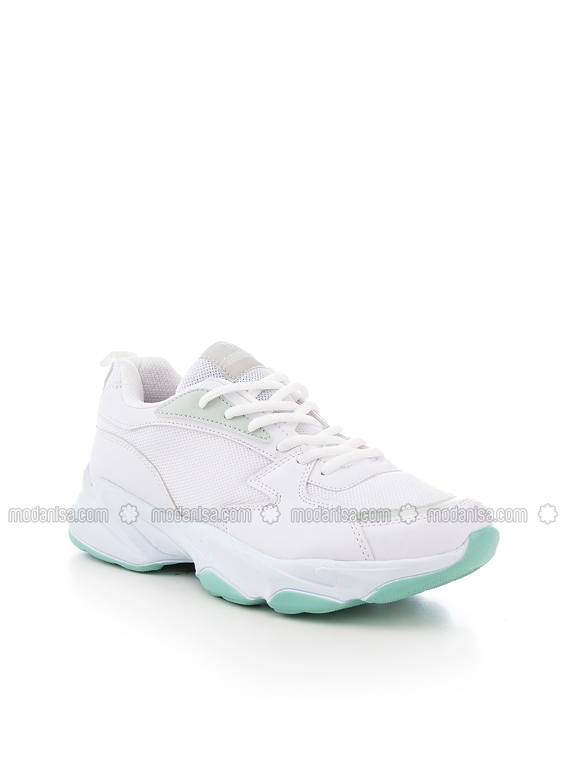 White -  - Sport - Sports Shoes