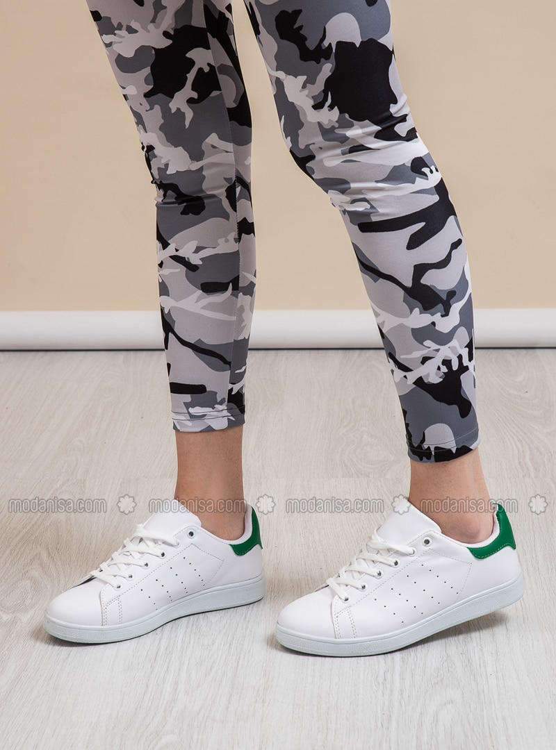 Green - White - Sport - Sports Shoes