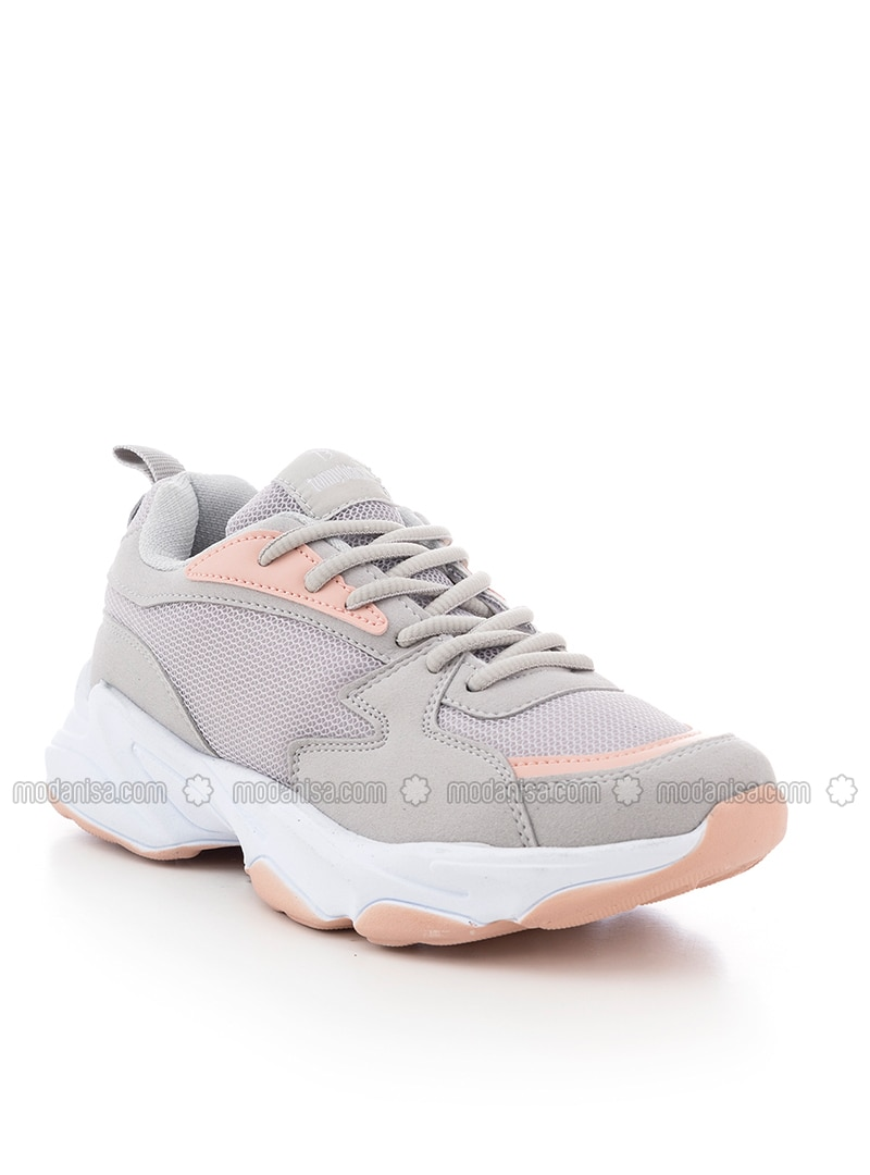 Gray - Powder - Sport - Sports Shoes