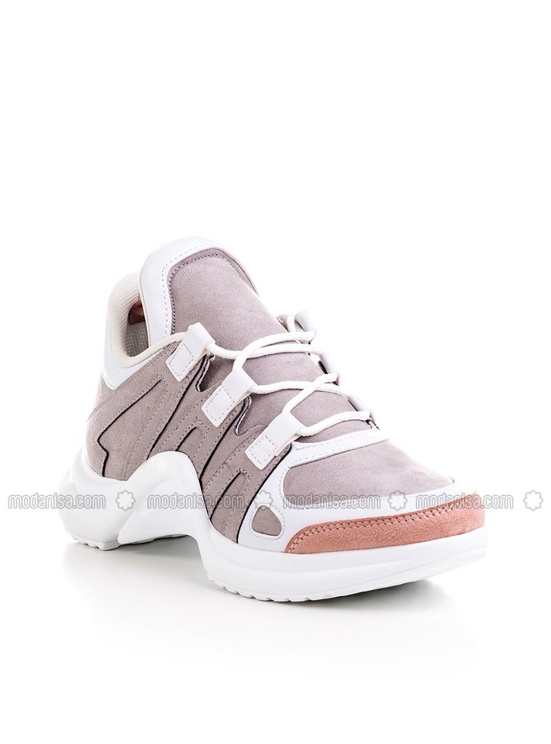 Gray - Powder - Sport - Sports Shoes