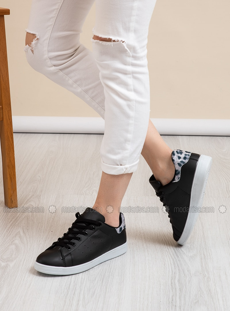 Black - Gray - Leopard - Sport - Sports Shoes