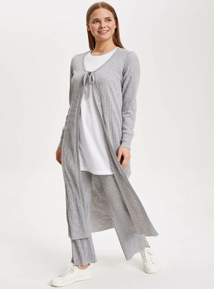 Gray - Girls` Cardigan - DeFacto
