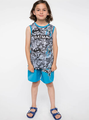 Gray - Boys` Swimsuit - DeFacto