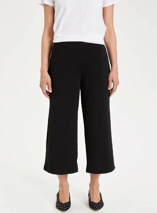 Black - Girls` Pants - DeFacto
