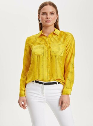 Yellow - Girls` Shirt - DeFacto