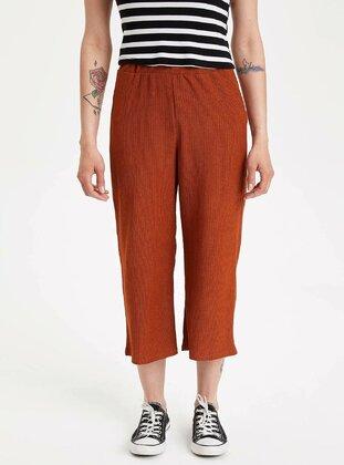 Orange - Girls` Pants - DeFacto