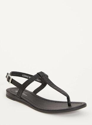 Black - Girls` Sandals