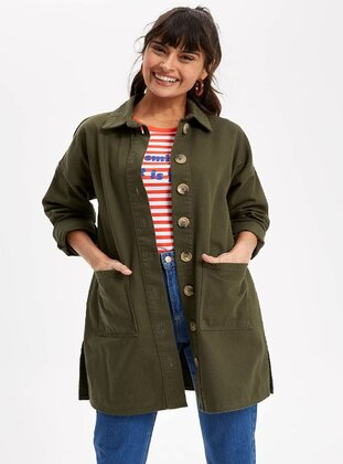 Khaki - Girls` Jacket