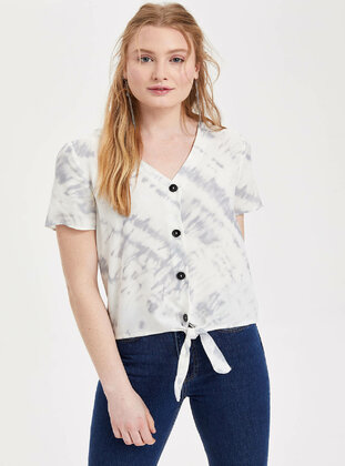Blue - Girls` Blouse - DeFacto