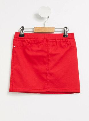 Red - Girls` Skirt