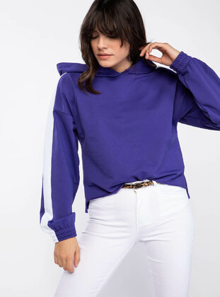 Purple - Girls` Sweatshirt - DeFacto