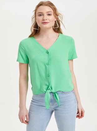 Green - Girls` Shirt