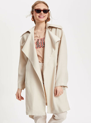 Beige - Girls` Raincoat