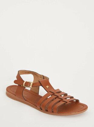 Brown - Girls` Sandals