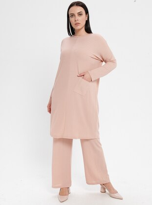 Powder - Crew neck - Unlined - Plus Size Suit