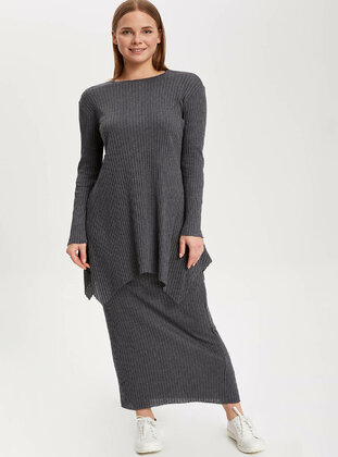 Anthracite - Girls` Skirt - DeFacto