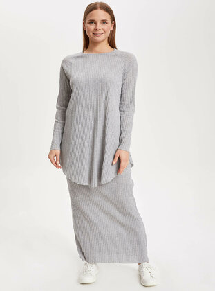 Gray - Girls` Skirt - DeFacto