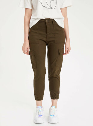 Khaki - Girls` Pants - DeFacto