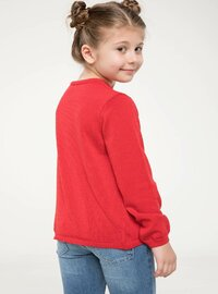 Red - Girls` Cardigan