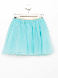 Turquoise - Girls` Skirt