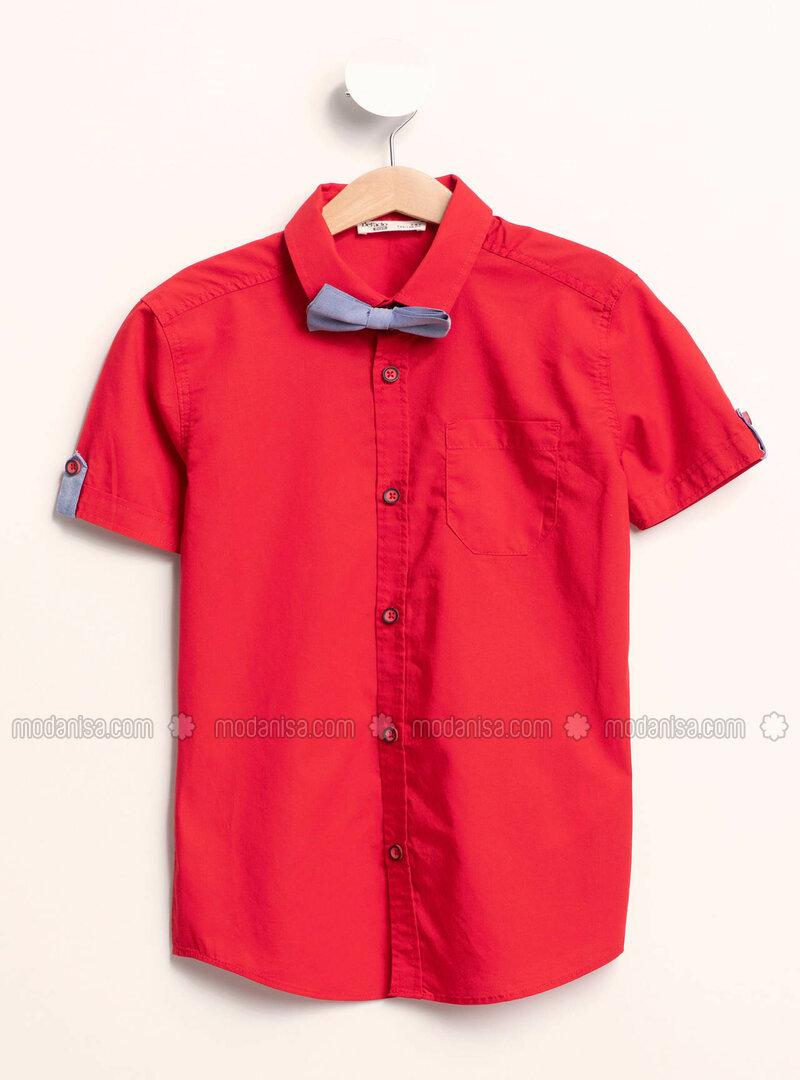 Red - Girls` Shirt