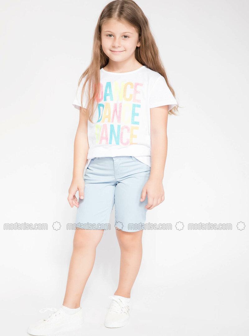 Blue - Girls` Shorts