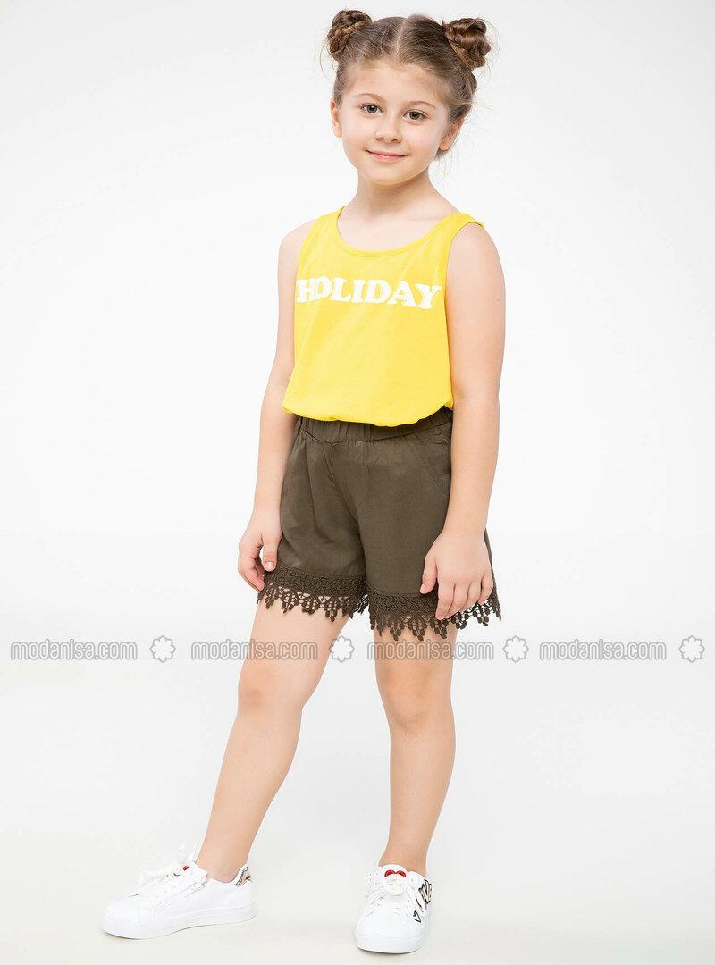 Khaki - Girls` Shorts