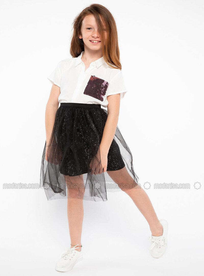 Black - Girls` Skirt