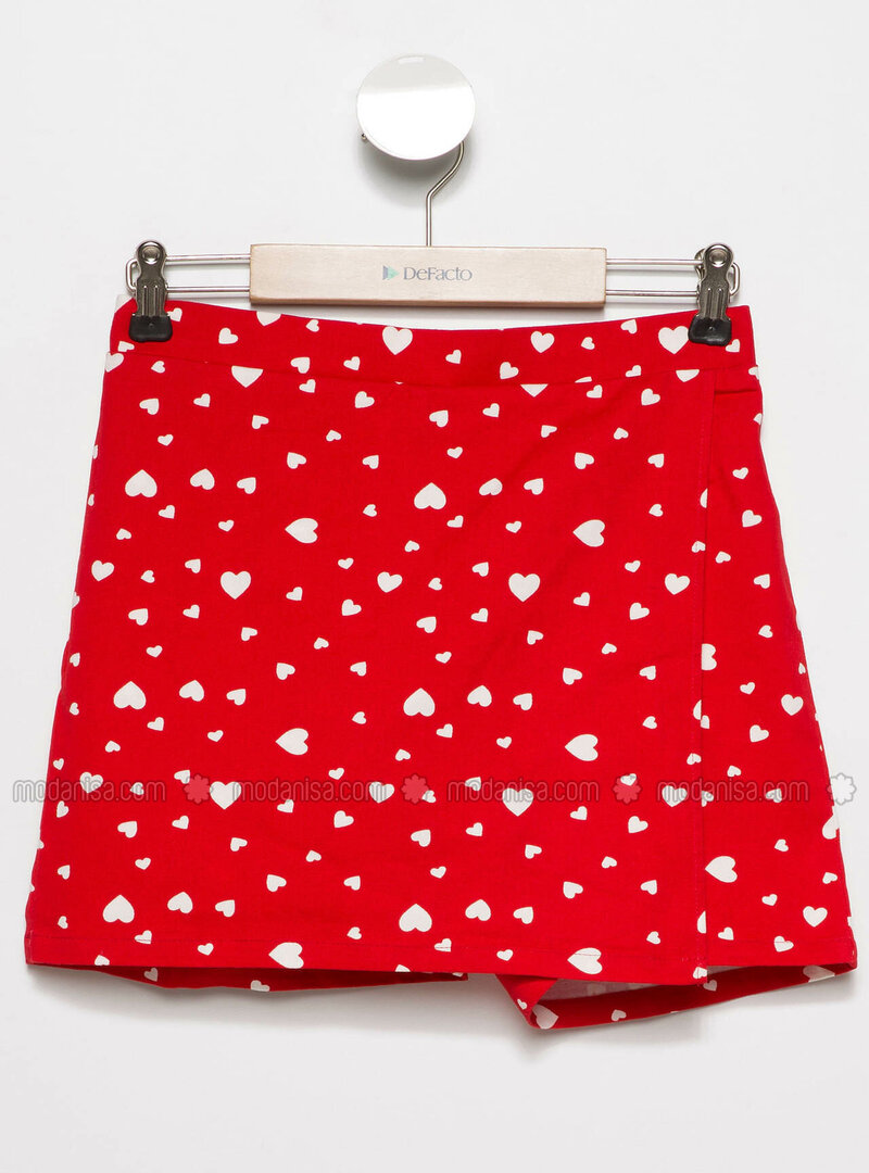 Red - Girls` Skirt