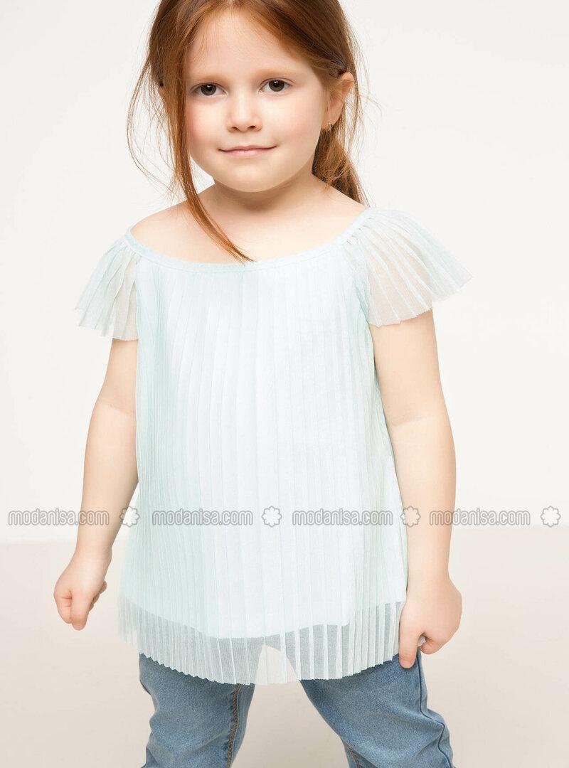 Turquoise - Girls` Blouse