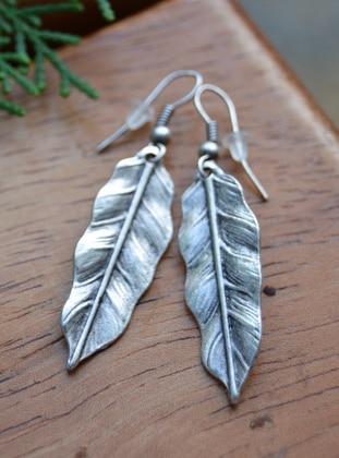 Silver tone - Earring - Artbutika