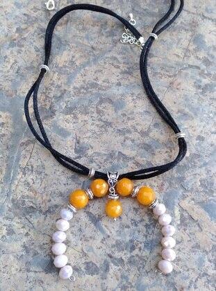 Beige - Necklace - Artbutika
