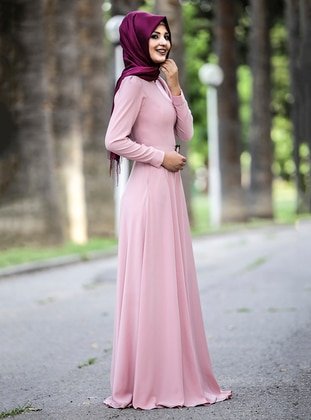 Powder - Crew neck - Fully Lined - Crepe - Dress