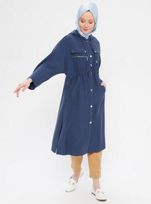 Navy Blue - Indigo - Unlined - Topcoat