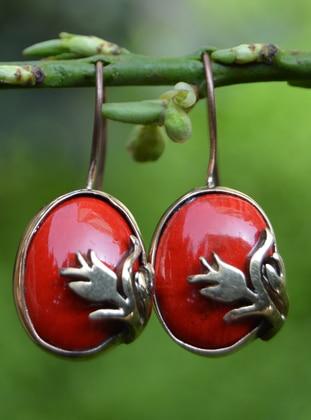 Red - Earring - Artbutika