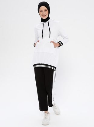 White - Tracksuit Top