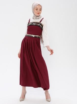 Purple - Unlined - Dress