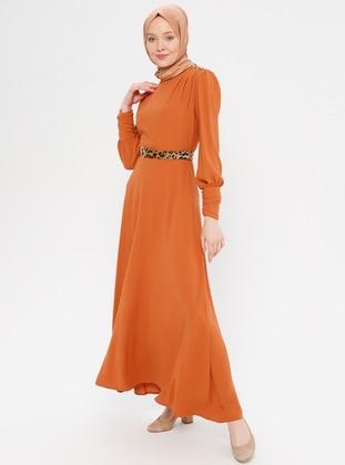 Terra Cotta - Polo neck - Unlined - Dress