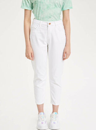 White - Girls` Pants - DeFacto