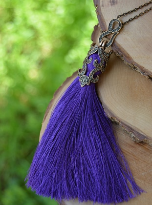 Purple - Necklace - Artbutika