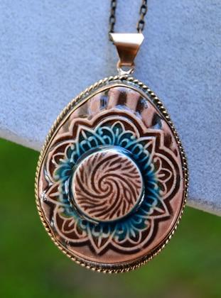 Brown - Necklace - Artbutika