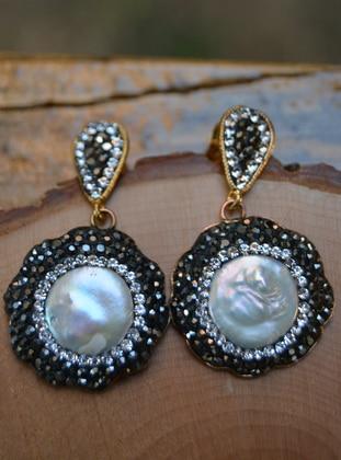White - Earring - Artbutika