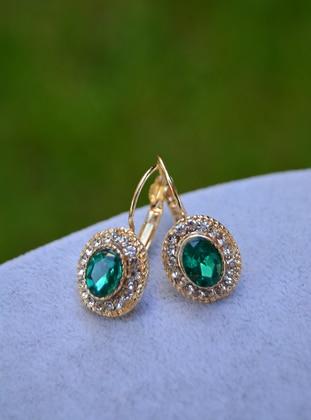 Green - Earring - Stoneage