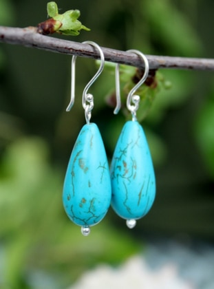 Turquoise - Earring - Artbutika