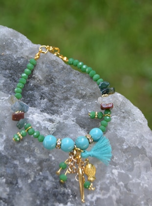Green - Bracelet - Stoneage