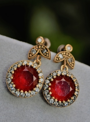 Red - Earring - Artbutika