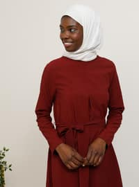 Maroon - Crew neck - Tunic