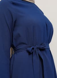 Blue - Saxe - Indigo - Crew neck - Tunic